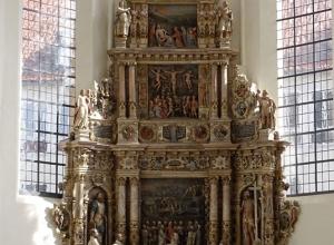 Alabaster Epitaph in der evangelischen Moritzkirche